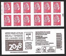 CARNET 12TP YSEULT YZ  - L'ENGAGEE - TVP LP -  Votez Pour Le Plus Beau Timbre - Daté Du 21 02 19 - NEUF - NON PLIE - Carnets