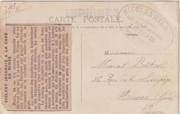 CP Liège Départ, Au Verso Article Journal Incendie Gare De Nîmes Gard 1908 - Documents Historiques