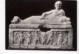Tarquinia, Museo Etrusco, Sarcofago Del Magistrato, Unused Real Photo, Vera Fotografia Postcard [23091] - Museum