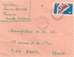 Canala Annexe Mobile 1970 Nelle Calédonie - Lettre Brief Cover - Couronne Mal Montée - Nouvelle-Calédonie