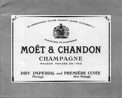 Plaquette En Anglais. 200 Ans De Perfection. Champagne Moet Et Chandon.  12 Pages.  1960. - Publicité