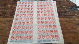 LOT 445338 TIMBRE DE FRANCE NEUF** LUXE N°1468 FEUILLE COMPLETE BLOC - Feuilles Complètes