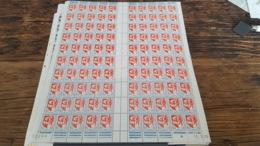 LOT 445340 TIMBRE DE FRANCE NEUF** LUXE N°1468 FEUILLE COMPLETE BLOC - Feuilles Complètes