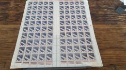 LOT 445341 TIMBRE DE FRANCE NEUF** LUXE N°1353 FEUILLE COMPLETE BLOC - Feuilles Complètes