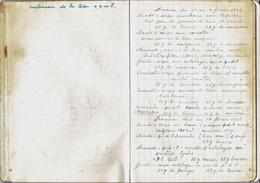 Notes D'un Déporté Sur L'alimentation Lui Distribuée Au Camp De « LAGER WEIDMANTEUSTER DAM » BERLIN  - (4474) - Manuscrits