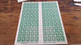 LOT 445356 TIMBRE DE FRANCE NEUF** LUXE N°1611 FEUILLE COMPLETE BLOC - Feuilles Complètes