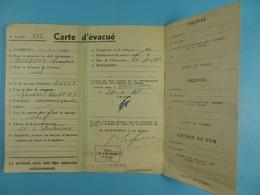 Carte D'évacué Montigny Sur Sambre Houyoux Simone1944 - Documents Historiques