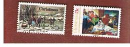 STATI UNITI (U.S.A.) - SG 1678.1679  - 1976 CHRISTMAS (COMPLET SET OF 2) - USED - Usati