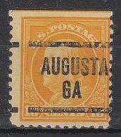 USA Precancel Vorausentwertung Preo, Locals Georgia, Augusta 204, Perf. 11x11 - Vereinigte Staaten