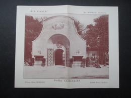 VP FRANCE (K02) DEPLIANT PUBLICITAIRE : PAVILLON CORCELLET (3 Vues) Exposition Des Arts Décoratif De Paris 1925 - Pubblicitari