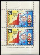 1989 Philippines/ Small Sheet MNH** National Science & Technology Week. Vitruvian Man Leonardo Da Vinci - Filipinas