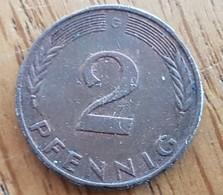 Germany Deutschland   2 Pfennig 1977 G - [ 7] 1949-… : FRG - Fed. Rep. Germany