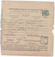 Avviso Di Ricevimento - Ricevuta Di Ritorno - 5 Cent VE III Floreale Sassone N 70 - Bovolone 8/1/1903 Salizzole 9/1/1903 - 1900-44 Victor Emmanuel III