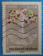 France 2013 : Dix Ans De Mécenat N° 4795 Oblitéré - France