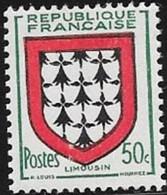 N° 900  FRANCE  -  NEUF  -  BLASON LIMOUSIN -  1951 - Francia