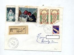 Lettre Recommandee Granville A Sur Daumier Saint Michel - Marcophilie (Lettres)