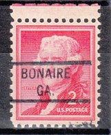 USA Precancel Vorausentwertung Preo, Locals Georgia, Bonaire 821 - Vereinigte Staaten