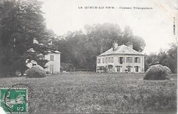 LA  QUEUE  En BRIE ( 94 ) -  Château Triangulaire  (  Dans L'Etat = Déchirée  En Bas à Gauche  ) - La Queue En Brie