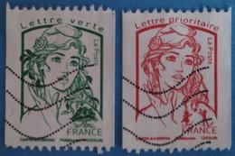 France 2016 : Type Marianne De Ciappa Et Kawena Provenant De Roulette N° 5017 à 5018 Oblitéré - France