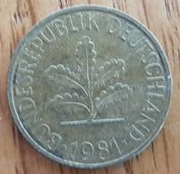 Germany Deutschland   10 Pfennig 1981 J - 10 Pfennig