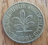 Germany Deutschland   10 Pfennig 1991 D - 10 Pfennig