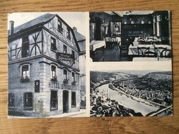Traben-Trarbach 1930 Hotel Brauneberg Sonderstempel 'Heilende Therme Feuriger Wein Burgen + Berge Laden Dich Ein' - Traben-Trarbach