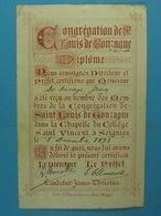 De Savoye Jean Membre De La Congrégation De St-Louis De Gonzague Soignies 1893 - Devotion Images