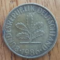 Germany Deutschland   10 Pfennig 1986 D - 10 Pfennig