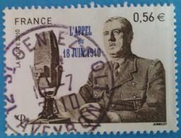 France 2010  : 70e Anniversaire De L'appel Du 18 Juin 1940 N° 4493 Oblitéré - France