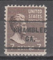 USA Precancel Vorausentwertung Preo, Bureau Georgia, Chamblee 712 - Etats-Unis