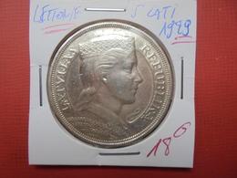 LETTONIE 5 LATI 1929 ARGENT - Lettonie