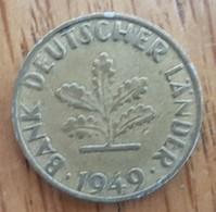 Germany Deutschland   10 Pfennig 1949 F - 10 Pfennig