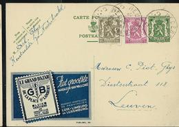Publibel Obl. N° 294 Bleue ( Le Grand Bazar  Luik - Verviers)  Obl. Nederbrakel  C C 1955 - Publibels