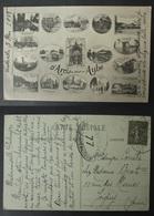 CPA FRANCE Carte Postale Censure 77 Timbre Semeuse D'ARCIS SUR AUBE Multivues Guerre 1914 1918 WW1 - Postmark Collection (Covers)