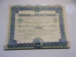 VAPEURS FRANCAIS (bon 500 Francs) 1919 - Non Classés