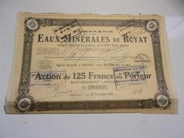 Compagnie Des EAUX MINERALES DE ROYAT (puy De Dome) - Non Classés