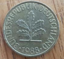 Germany Deutschland   10 Pfennig 1988 G - 10 Pfennig