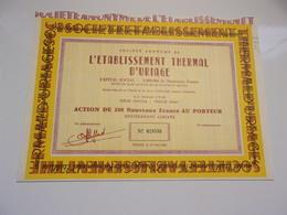 établissement THERMAL D'URIAGE (1961) Isère - Non Classés