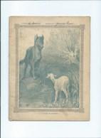 Le Loup Et L'Agneau Fables De La Fontaine Cahier Complet Mais Désolidarisé ! Couverture Protège-cahier +/- 1900 3 Scans - Protège-cahiers