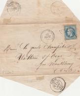 91 - VILLIERS Sur ORGE Par Montlhéry -  Enveloppe Seule  à Destination Du Garde-champêtre De Ce Pays - 1849-1876: Classic Period