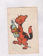 CPA   CHAT ILLUSTRE COULEUR ORANGE En 1910! - Cartes Humoristiques