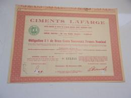 CIMENTS LAFARGE - Non Classés