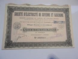 Société D'électricité De Guyenne Et Gascogne (1937) Clairac,lot Et Garonne - Non Classés