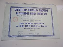 Nouveaux Magasins De Vetements HENRY THIERY AINE (1969) Toulon,var - Non Classés
