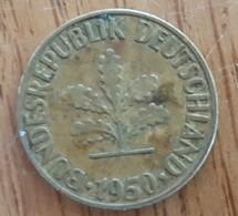 Germany Deutschland   10 Pfennig 1950 F - 10 Pfennig