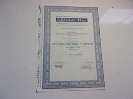 AERAZUR (capital 4,8 Millions) Issy Les Moulineaux - Non Classés