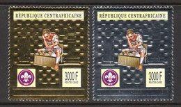 CENTRAFRIQUE 1844 A/B Echecs , Or Et Argent , Scout - Echecs