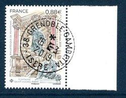 France 2019.Fontaine Saint Michel PARIS & Métiers D'Art Tailleur De Cristal.Cachet Rond.Gomme D'Origine - France