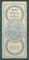 BELGIUM  - 18XX - MH/* - TIMBRE EFFET DE COMMERCE PAYABLE A L'ETRANGER -  FOLDED - Lot  19208 - SEE SCANS - Revenue Stamps
