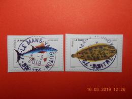 FRANCE 2019  CL044  Du Carnet  POISSONS DE MER   (2 Timbres) Beaux Cachets Ronds (A Voyagé) - France
